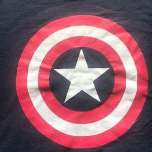 Captain America navy blue tee